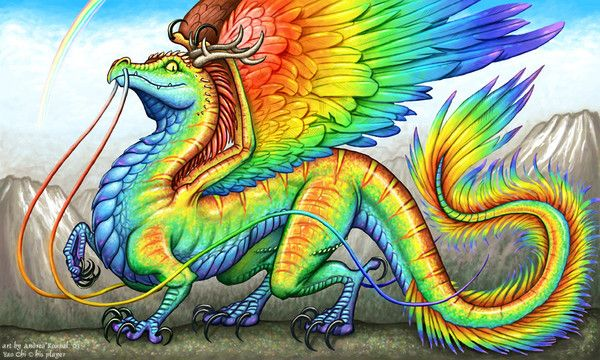 dragon multicolore