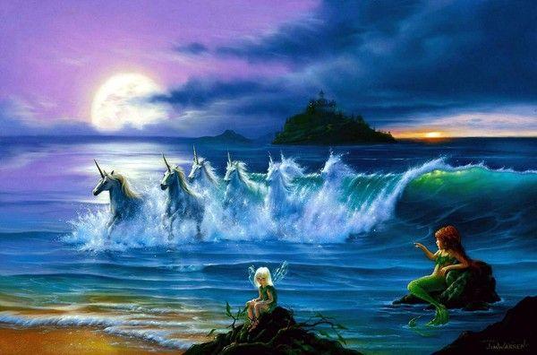 licorne et sirène