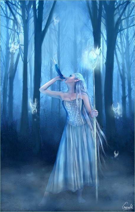 elfe dans forêt