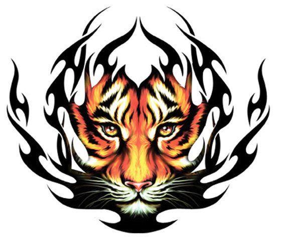 Wallpapers Tribal Animals Animal Tattoo 1024x1024: Tribal Tigre