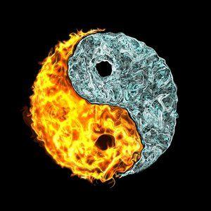 ying yang feu et eau